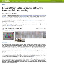 School of Open builds curriculum at Creative Commons Palo Alto meeting