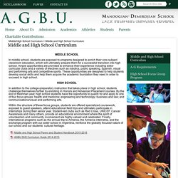 Middle and High School Curriculum – Middle/High School Curriculum – AGBU Manoogian-Demirdjian School