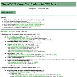 NCGIA Core Curriculum in GISci - Detailed Outline