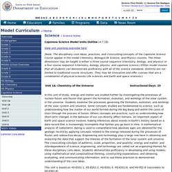 Model Curriculum: HS Earth and Space/Environmental Science