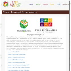 Curriculum and Experiments