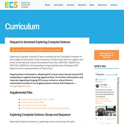 Curriculum « Exploring Computer Science