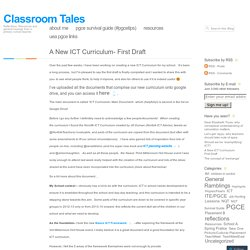 A New ICT Curriculum- First Draft