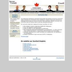 Curriculum vitae - - Guichet emplois