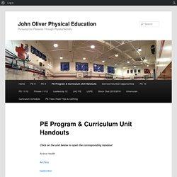 PE Program & Curriculum Unit Handouts
