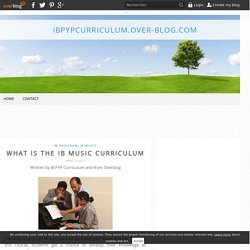 What Is The IB Music Curriculum