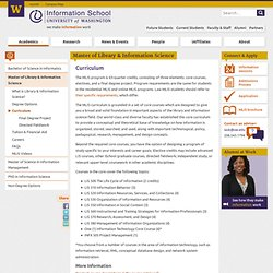 MLIS Curriculum | Information School | University of Washington