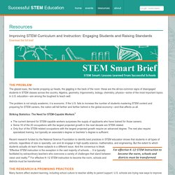 Improving STEM Curriculum and Instruction: Engaging Students and Raising Standards