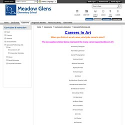 Curriculum & Instruction / Careers in Art