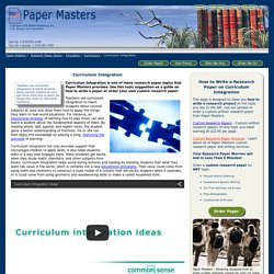 Curriculum Integration Research Paper Writing