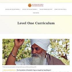 Level One Curriculum - Kundalini Yoga International