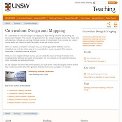 Curriculum Design and Mapping