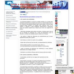Elaborar el Curriculum - Curso Tecnico Orientacion e Insercion Laboral