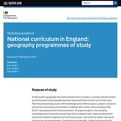 National curriculum in England: geography programmes of study