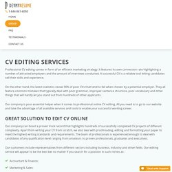 Curriculum Vitae (CV) Editing & Proofreading Service