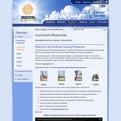 Sunsmart Curriculum Resources