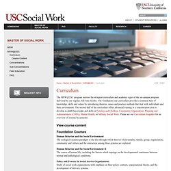 Curriculum | USC | School of Social Work