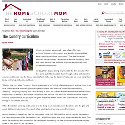 The Laundry Curriculum | Homeschooling Blog