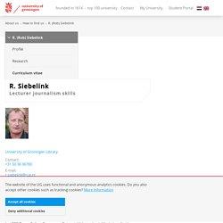Curriculum Vitae of R. (Rob) Siebelink