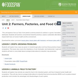 Unit 2: Farmers, Factories and Food Chains - Lesson Plans - Food System Curriculum - Johns Hopkins University