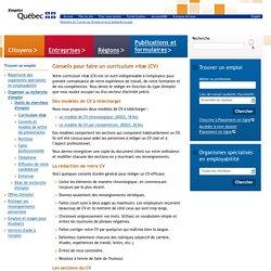 Curriculum vitae>Emploi-Québec