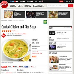 Curried Chicken and Rice Soup Recipe : Food Network Kitchens