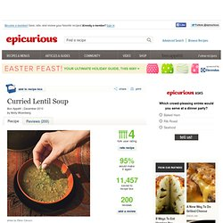 Curried Lentil Soup Recipe at Epicurious
