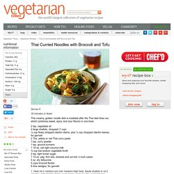 Thai Curried Noodles with Broccoli and Tofu Recipe