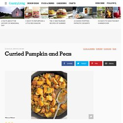 Curried Pumpkin and Peas Recipe