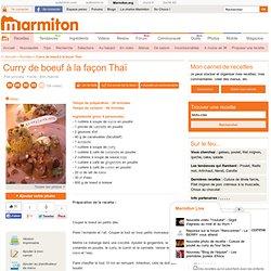 Curry de boeuf à la façon Thaï : Recette de Curry de boeuf à la façon Thaï