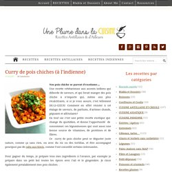Curry de pois chiches (à l'indienne)