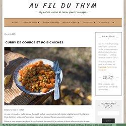 Curry de courge et pois chiches