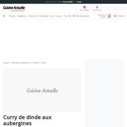 Curry de dinde aux aubergines facile