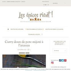 Curry doux de porc mijoté à l'ananas