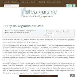 » Curry de légumes d'hiver