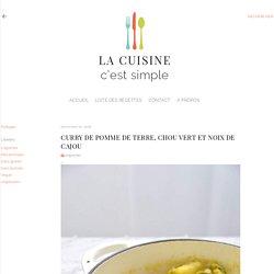 Pommes de terre, chou vert et cajou au curry