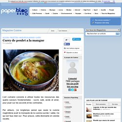 Curry de poulet a la mangue