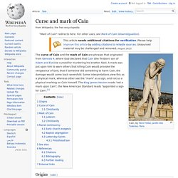 Curse and mark of Cain