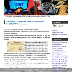 Cursivécole : Transformer un texte numérique en écriture cursive