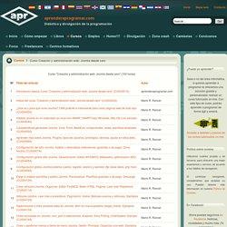 """Curso """"Creación web con Joomla desde cero"""""""