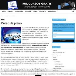 Curso de piano, más de 100 clases de piano