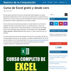 Curso de Excel gratis y desde cero