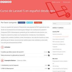 Curso de Laravel 5 en español desde cero