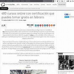 480 cursos online con certificación que puedes tomar gratis en febrero