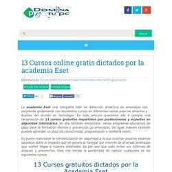 13 Cursos online gratis dictados por la academia Eset