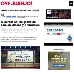 15 cursos online gratis de edición, diseño y animación