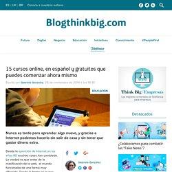 15 cursos online, gratis y en español disponibles ahora