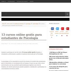 13 cursos online gratis para estudiantes de Psicología