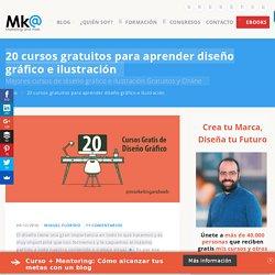 20 cursos de diseño gráfico e ilustración Online y Gratis