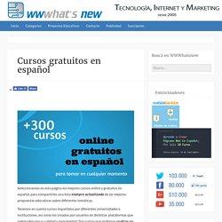 Cursos gratuitos en español